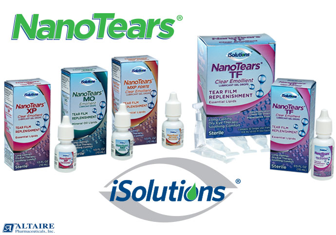 NanoTears, a New Innovation in Lipid Technology forDry Eye Relief.